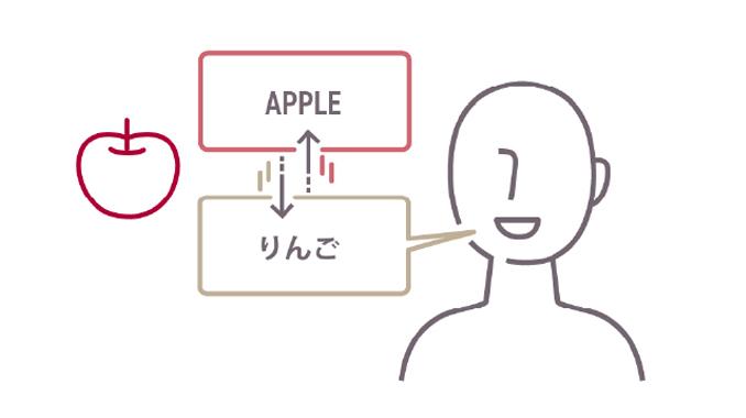 英単語と日本語の単語を対応させる